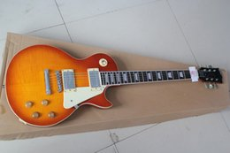 shopping china for guitar Canada - Free Shipping Wholesale Pomotion New Arrive Custom Shop Gold Top Standard Electric Guitar China Guitar Factory