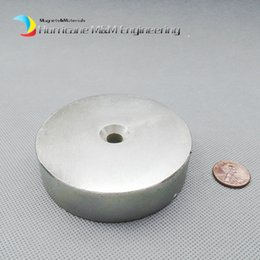 Rare Earth Neodymium Magnet Countersunk Hole NZ - 1 set Countersunk Hole Magnet about Diameter 80x20mm Thick M10 Screw Countersunk Hole Neodymium Rare Earth Permanent Magnet