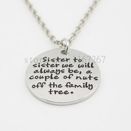 10pcs//lot Sister to Sister we will always be a couple of nuts Charm pendant 20mm