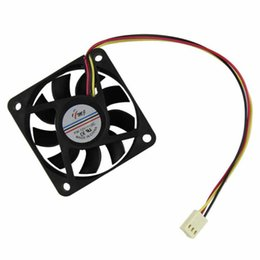 Cpu Fan 12v Pin NZ - Wholesale- Malloom 2017 Top Sale 60mm 12V 3 Pin Cooling Fans PC CPU Fan Computer Case Cooler Quiet Molex Connector Black Free shipping