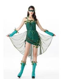 Barato Trajes De Halloween Da Árvore-Halloween New Costumes Role-Playing Green Wizard Tree Demon Costume Party Stage Performance Girls Elf Mulheres Trajes para Halloween Party