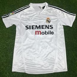 real madrid soccer jersey 2004 2005 retro vintage classic ZIDANE BECKHAM  RONALDO RAUL camisetas futbol maillot de foot shirts 41652faa3