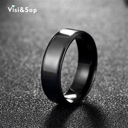 Punk Rings Australia - Visisap Black punk Rings For men Stainless steel ring male Cool anel bands for Husband high quality fashion jewelry VTGR018