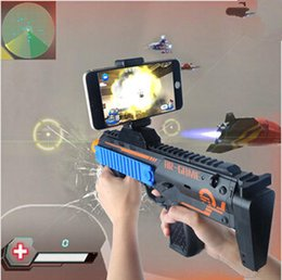 $enCountryForm.capitalKeyWord Canada - VR AR Game Gun Cell Phone Stand Holder Portable Wood AR Toy Game Gun with 3D AR Games for iPhone Android Smart Phone