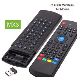 mini pc android smart tv box Canada - 2.4Ghz Fly Air Mouse MX3 Wireless Mini Keyboard For Mini PC HTPC Laptop Smart TV X96 A95X Android TV Box Remote Control