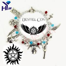 $enCountryForm.capitalKeyWord UK - Wholesale- Movie Jewelry Supernatural Charm Vintage Bracelets Fashion Women Jewelry Multilayer Dean Sam Davils Winchester Gifts Souvenir