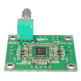 Ingrosso 3PCS \ lOT10W X 2 DC 7-15V PAM8610 Amplificatore Stereo Digitale Amplificatore Stereo PCB Circuit Board DC 12V 4x3.3x1.4cm Circuito elettronico kit