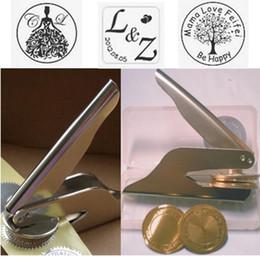 Portable metal embossing stamp custom wedding embosser seal on Sale