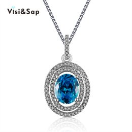 Gold pendant designs stones online gold pendant designs stones for visisap necklaces for women blue stone wedding chain white gold color jewelry necklace pendant brand design luxury lsn008 mozeypictures Images