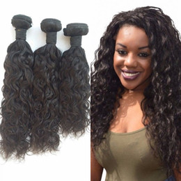 brazilian human hair for weaving Australia - 3 Bundles Virgin Human Hair Mongolian Water Wave Weaves for Braiding 8-30 inch Natural Color FDSHINE