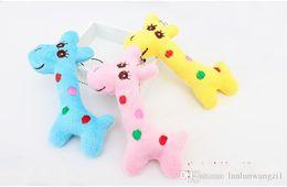 $enCountryForm.capitalKeyWord Australia - 40pcs lot Kawaii Cute Gift Plush Giraffe Soft Toy Animal Dear Doll Baby Kid Child Girls Christmas Birthday Happy Colorful Gifts