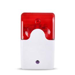 $enCountryForm.capitalKeyWord NZ - 1Sets Mini Wired Strobe Siren Durable 12V Sound Alarm Strobe Flashing Red Light Sound Siren Home Security Alarm System 110db