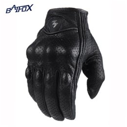 Men s winter gear online shopping - Perforated Leather Motorcycle Gloves Cycling Moto Motorbike Protective Gears Motocross Glove winter man female off road