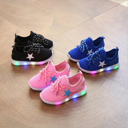 led sneakers Canada - European fashion children shoes hot sales lighting LED kids sneakers cool sport girls boys shoes lovely kids shoes