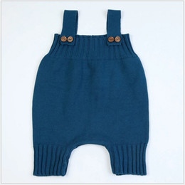 e96ff744472f 2017 New Spring Autumn Infant Baby Sleeveless Knitted Rompers Toddler  Sweater Suspender Pants Kids Overalls Jumpsuits Boys Girls One-Pieces