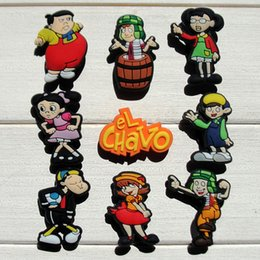 $enCountryForm.capitalKeyWord NZ - 45pcs El Chavo PVC Shoe Charms Ornaments Buckles Fit for Shoes & Bracelets ,Charm Decoration,Shoe Accessories Party Gift Free Shipping