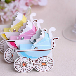 $enCountryForm.capitalKeyWord Canada - 1pcs Baby Carriage Candy Box Birthday Boy Baby Shower Favors Baby Shower Souvenirs Kids Party Decoration Birthday Gifts