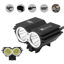 cree bicycle NZ - SolarStorm 5000LM X2 CREE XM-L T6 Aluminum Alloy Waterproof Bicycle LED Headlight 4 Modes with Rechargable Battery + Charger BLL_4A0