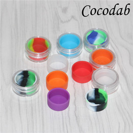 plastic jars 5ml 2019 - multiple colors 5ml clear acrylic wax concentrate containers, Plastic container with silcone inner Non-stick silicone Da