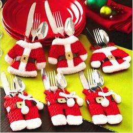 $enCountryForm.capitalKeyWord Canada - Fancy Santa Christmas Decorations Silverware Holders Christmas Decor Santa Silverware Holders Pockets Dinner Decor new Christmas happy