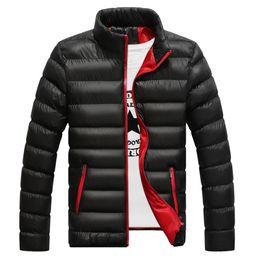 Famous Parka Brands Australia - Wholesale- Fashion Autumn Winter Jacket Men Brand New Warm Thicken Coat Warm Duck Male Thicken Coat Famous Cotton-Padded Parkas