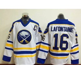 0f05592a34a ... Wholesale - Wholesale Cheap Ice Hockey Jerseys Mens Buffalo Sabres  Jerseys 16 Pat Lafontaine CCM Throwback ...