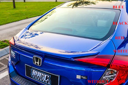 $enCountryForm.capitalKeyWord Canada - High quality ABS material car trunk rear wing Spoiler with paint for Honda CIVIC 2016(red,blue,black,white,silver,orange)