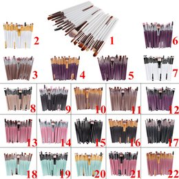 Pinceles De Maquillaje Profesional Baratas Baratos-Cepillos de maquillaje baratos 20pcs Conjuntos de cosméticos profesionales Powder Foundation Eyeshadow Eyeliner Lip Brush Brand Make Up Beauty Tools