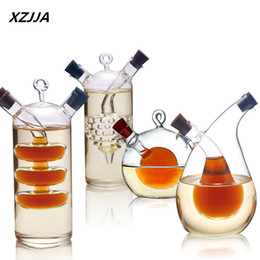 Glasses Storage Australia - Wholesale- High temperature spice bottle Oil and vinegar galss bottle sauce glass jar sealed seasoning glass storage wine bottles for bar