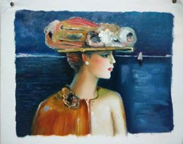 $enCountryForm.capitalKeyWord Canada - High Quality hand-painted canvas oil painting #893 modern lady for home dinning room bedroom wall decoration in freely shipping
