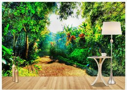 Wholesale country roads resale online - High end custom d wall murals wallpaper Modern simplicity Pastoral Country Road D Backdrop Decorative Painting wall paper room decoration