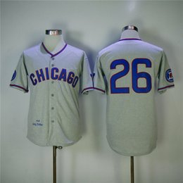 f6f04f5c ... Chicago Cubs Jerseys 26 Billy Williams Jersey Grey 1968 Retro  Cooperstow Shirt Stitched MLB Baseball ... women world series patch 31  fergie jenkins ...
