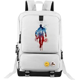 captain america backpacks Canada - Paint printing backpack Captain America school bag Hottest daypack Film schoolbag Outdoor rucksack Sport day pack