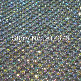 $enCountryForm.capitalKeyWord NZ - Free CPAM Hot fix 3mm ab crystal rhinestone mesh wrap roll,iron on bridal rhinestone trim net for cloth dress appliques