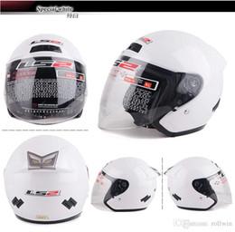 Helmet Motorcycles Open Face NZ - DOT Ls2 OF508 Jet Helmets Motorcycle Open Face Helmet Man&Female Urban Moto Casco