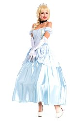 Barato Vestidos Princesa Sissi-Royal Costume Sissi Princess Cosplay Fashion Stage Performance Vestuário Strapless Fairy Tale Dress Neck Ring Game Uniform