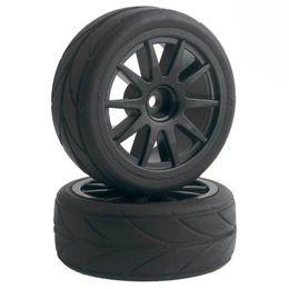 Racing Cars Electric Race UK - 4pcs RC Flat Racing Tires Tyre Wheel Rim Fit HSP HPI 1:10 On-Road Car 910-6081