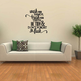 Bathroom Wall Sticker Quotes Australia - For Bathroom Words Lettering Removable Wall Decal Subway Funny Personality Sticker Quote Art Vinyl Decor Diy