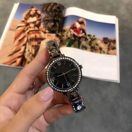 Blue Acrylic Diamond Australia - 2017 Ultra Thin fashion Woman's Diamond Flower Watches High-quality Brand Luxury Ladies Dresses Female steel strip Wrist watches Gifts