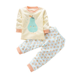 Wholesale Fashion Cartoon Baby Boy Girl Clothing Set Winter Newborn Long Sleeve Top Pants Suit