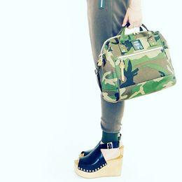 $enCountryForm.capitalKeyWord Canada - Anello Japan Boston Bags Unisex Camouflage Shoulder Bags Cross Body Pig Nose Waterproof Nylon Single Casual Handbags Big Size