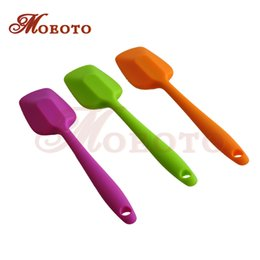 Butter Cutter Australia - Wholesale- 1 pcs Kitchen Silicone Cake Spatula Mixing Brush Butter Utensil Tool Silicone baking tools butter scraping cutter free shipping