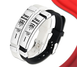Stainless Steel Power Bracelet NZ - Good quality basketball player silicone energy wristband balance bracelet with Stainless steel buckle power sports bangle for mcgrady