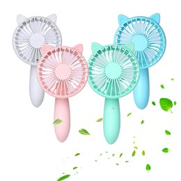 Travel Fan Canada - Wholesale- Handheld Mini USB Fan Solid Color Totoro Squirrel Rechargeable Desk Fans For Home Office Travel Outdoor Portable Gadget Q