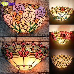 Stained glass lamp shades nz buy new stained glass lamp shades tiffany wall lamp european style art stained glass shade lights corridor bar restaurant hotel lights mirror front light wall sconce aloadofball Images