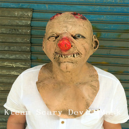 $enCountryForm.capitalKeyWord Canada - Top Grade 100% Latex Zombie Clown Mask Costume Ghost Zombie Mask Halloween Full head All Saints' Day Latex Creepy Scary Monster Mask Goblin