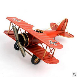plane gifts NZ - Zakka metal Restoring handicrafts big Tin plane Model articles Creative home decorative iron plane Arts and Crafts birthday gifts
