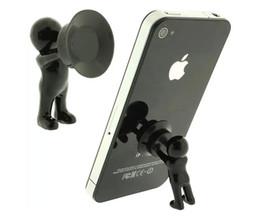 Lenovo hoLder online shopping - Silicone Mini Hercules Villain D Man Mobile Cell Phone Holder Stand Supporter for Smartphone Plunger Sucker iPhone Samsung HTC Lenovo
