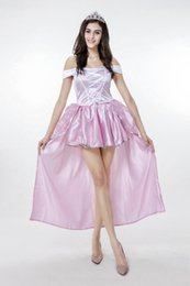 $enCountryForm.capitalKeyWord Canada - New Adult Fairy Tale Snow White Princess Pink Dress Sexy Cosplay Halloween Costumes For Women Stage Performance Clothing Hot Selling