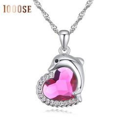 $enCountryForm.capitalKeyWord Canada - 2017 new 1000SE Quality goods Crystal Necklace Dolphin spirit High-grade Pendant jewelry sale